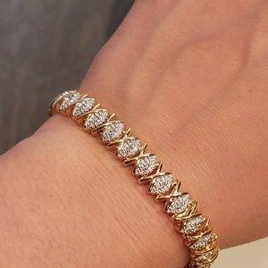 925 Gold Over Silver Bracelet
